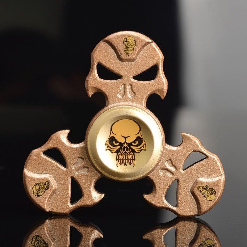 Joc Fidget Spinner Aliaj de Zinc Forma de cranii scobite