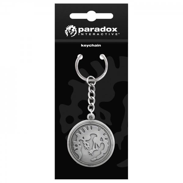 Breloc Paradox interactive logo keychain