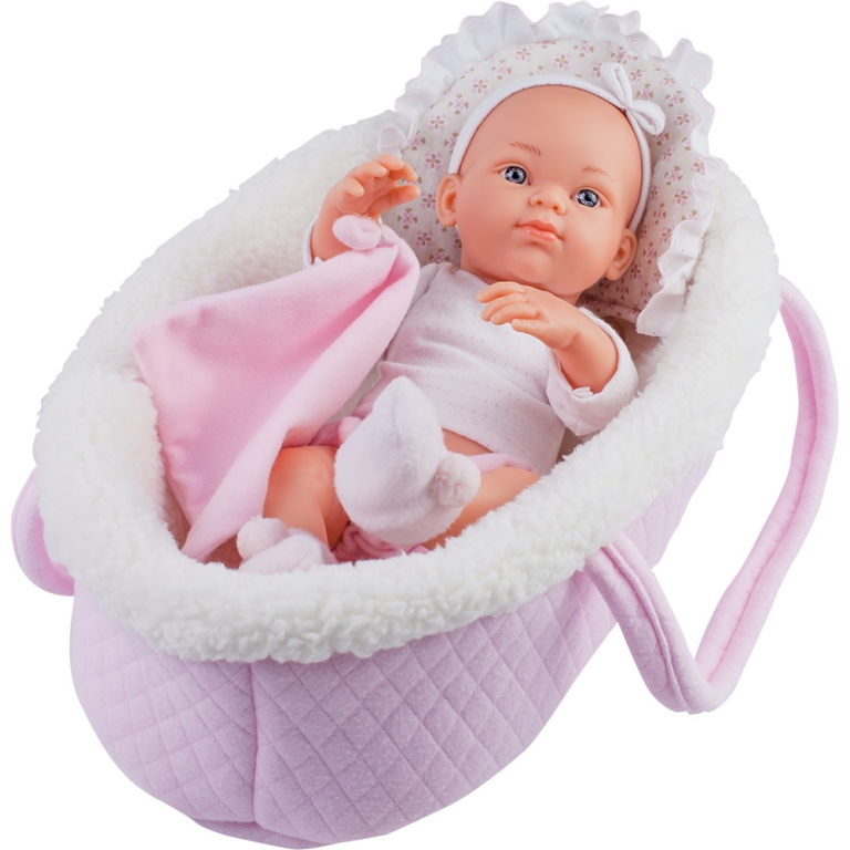 Papusa bebelus in cosulet roz - MINI PIKOLIN, Paola Reina