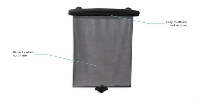Parasolar auto retractabil Black