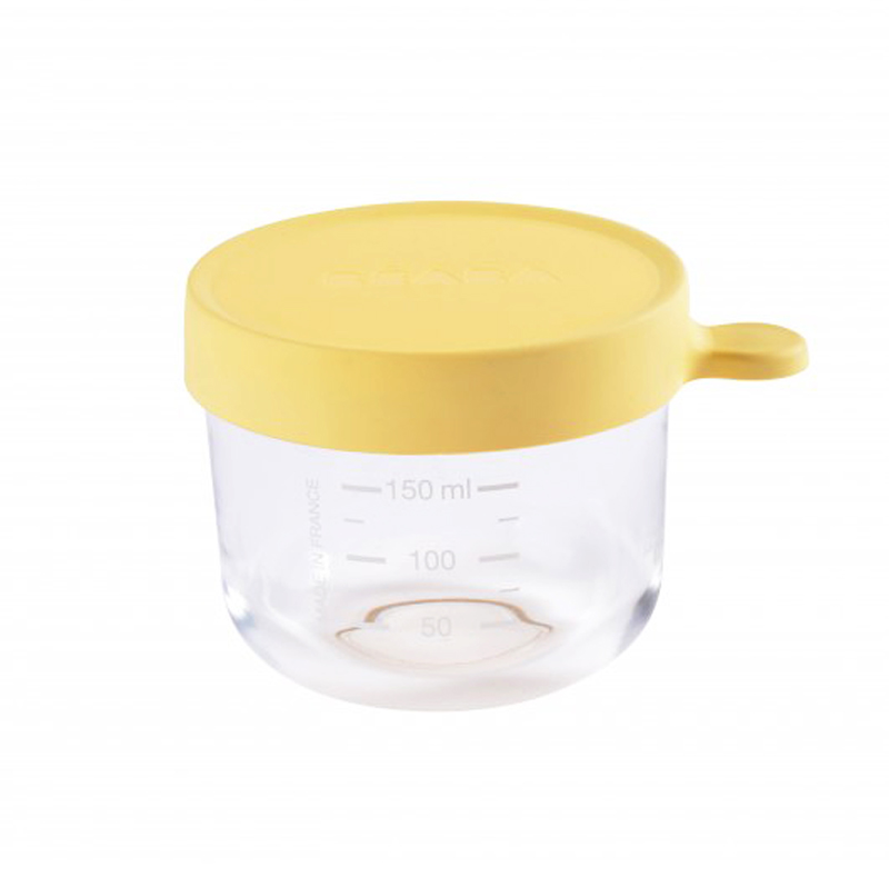 Recipient ermetic sticla 150 ml Galben