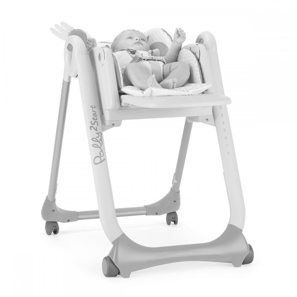 Scaun de masa Chicco Polly 2 Start 4 roti Baby Elephant 0 luni+