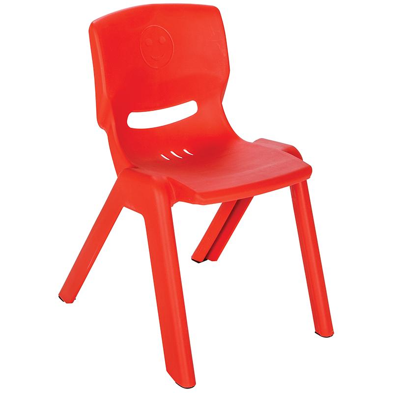 Scaunel cu spatar pentru copii Happy Chair Rosu