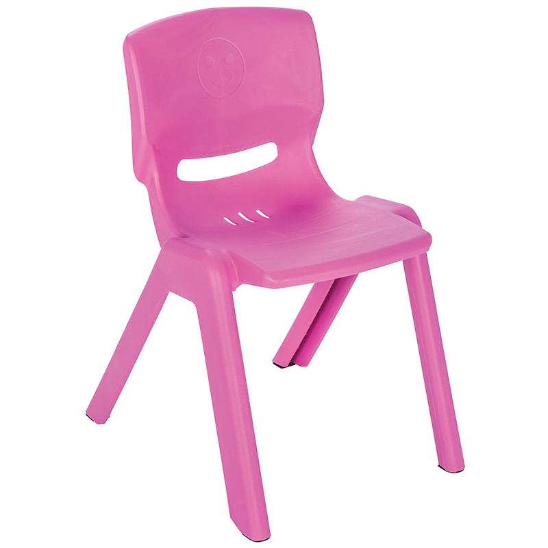 Scaunel cu spatar pentru copii Happy Chair Roz