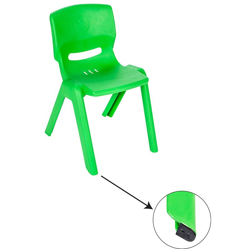 Scaunel cu spatar pentru copii Happy Chair Verde imagine