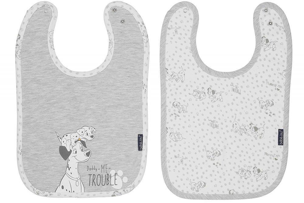 Set 2 bavetele reglabile Bebe Jou Licenta Disney 101 Dalmatians