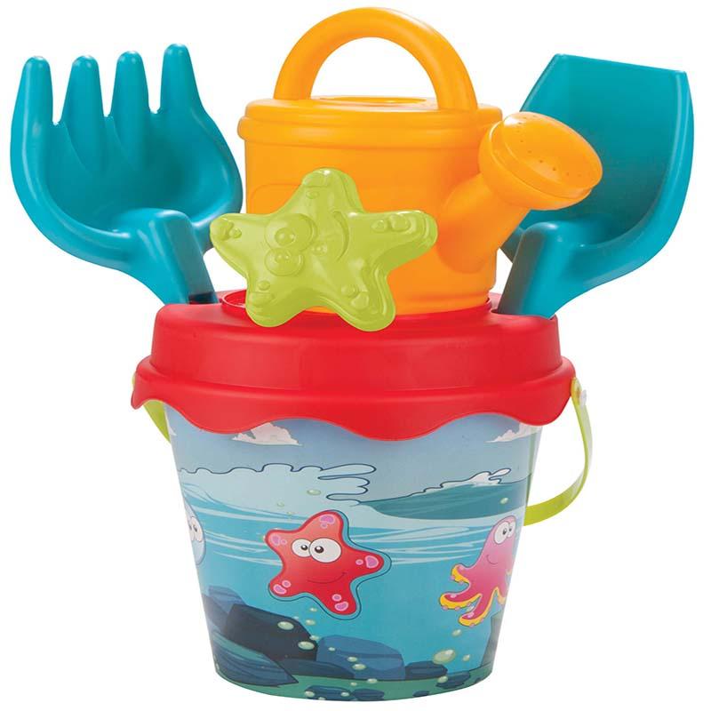 Set galetusa si forme pentru nisip Sweety Bucket Aquamarine imagine