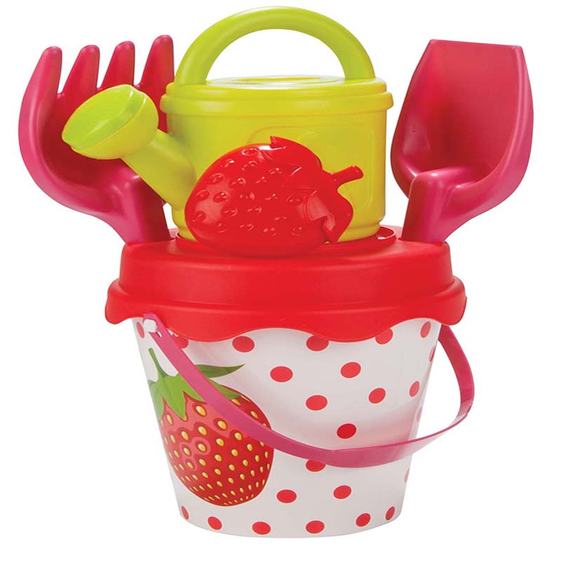 Set galetusa si forme pentru nisip Sweety Bucket Strawberry