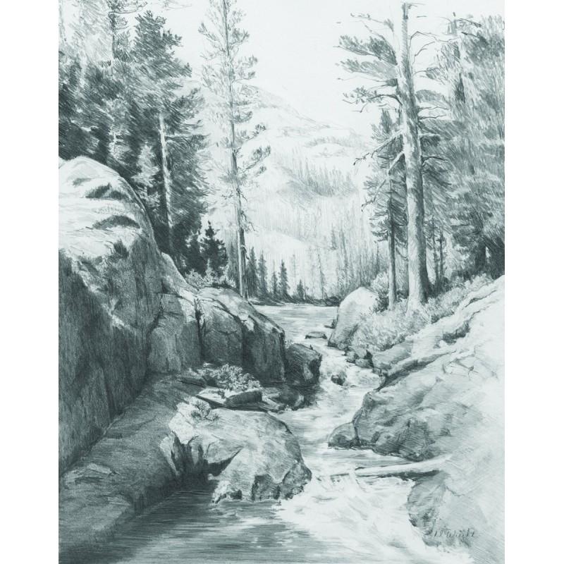 informatii pentru gânduri pe listă nouă Set pentru realizarea unui desen in creion Rau de munte - Nichiduta.ro