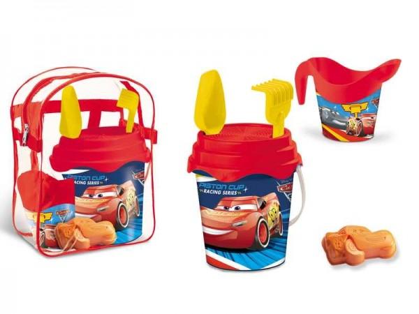 Set plaja Cars Mondo pentru copii cu ghiozdanel jucarii plaja si galetusa