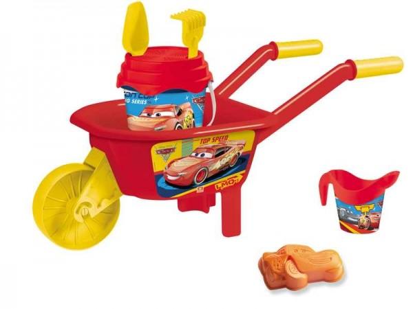 Set plaja Cars Mondo pentru copii cu roaba jucarii plaja si galetusa