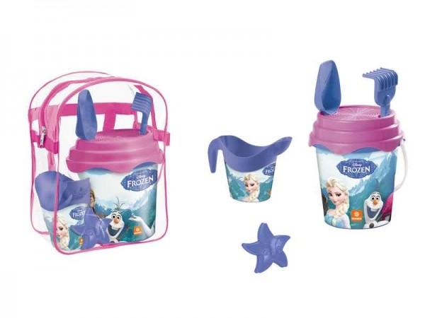Set plaja Frozen Mondo pentru copii cu ghiozdanel jucarii plaja si galetusa imagine