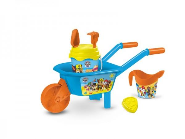 Set plaja Paw Patrol Mondo pentru copii cu roaba jucarii plaja si galetusa