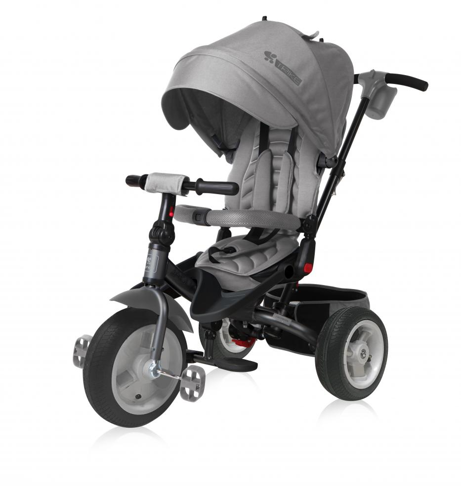 Tricicleta Jaguar Air multifunctionala 4 in 1 roti mari cu camera Grey