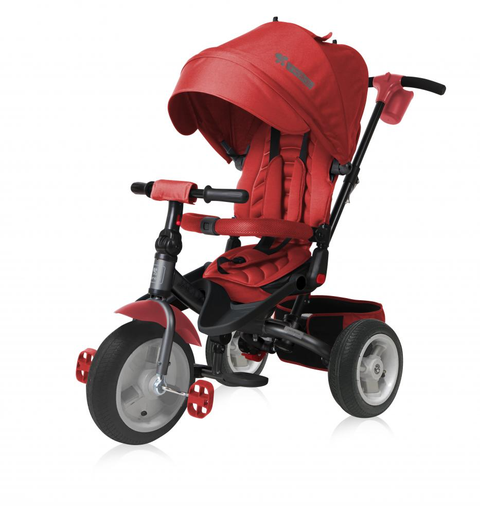 Tricicleta Jaguar Air multifunctionala 4 in 1 roti mari cu camera Red