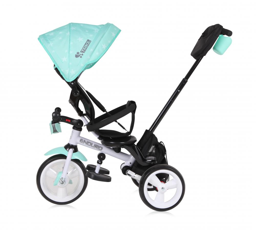Tricicleta Multifunctionala 4 In 1 Enduro Cu Scaun Rotativ Green Stars