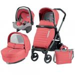 Carucior 3 in 1 Peg Perego Book Plus 51 S Black Completo Elite Breeze Coral