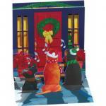 Felicitare 3D pentru iarna Catelusi Colindatori
