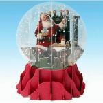 Felicitare 3D tip glob Semineul lui Mos Craciun