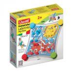 Jucarie copii labirint cu piese de asociat cu 2 fete diferite si 12 trasee de parcurs