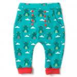 Pantaloni salvari din bumbac organic Little Green Radicals River Frog Joggers 3-4 ani