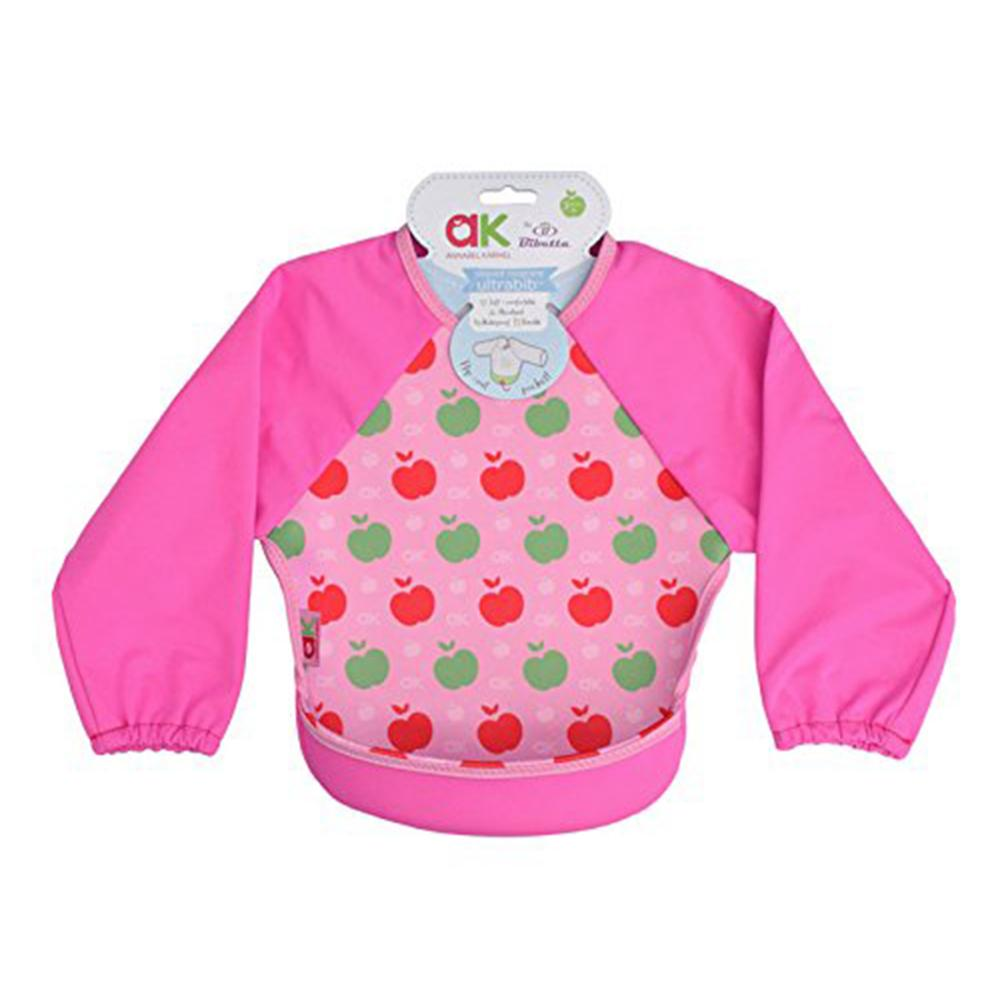 Baveta cu maneci Ultrabib Annabel Karmel Pink apples 6 luni+