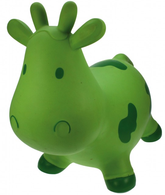 Jucarie gonflabila de sarit vacuta Betsy verde
