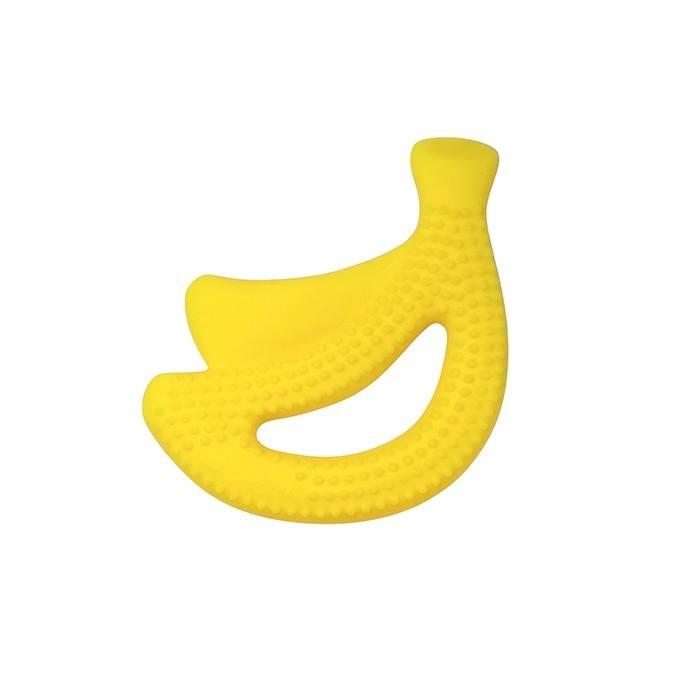 Jucarie pentru dentitie din silicon Green Sprouts Yellow Banana