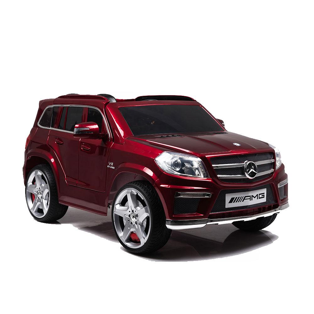 Masinuta electrica cu telecomanda si roti din cauciuc Mercedes GL63 Red