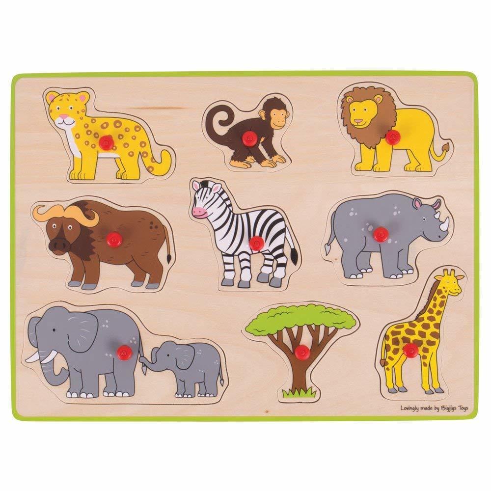 Puzzle din lemn incastru - Safari