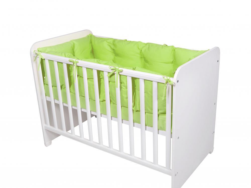 Set protectii laterale pentru pat 4 piese 60 x 120 cm Green imagine