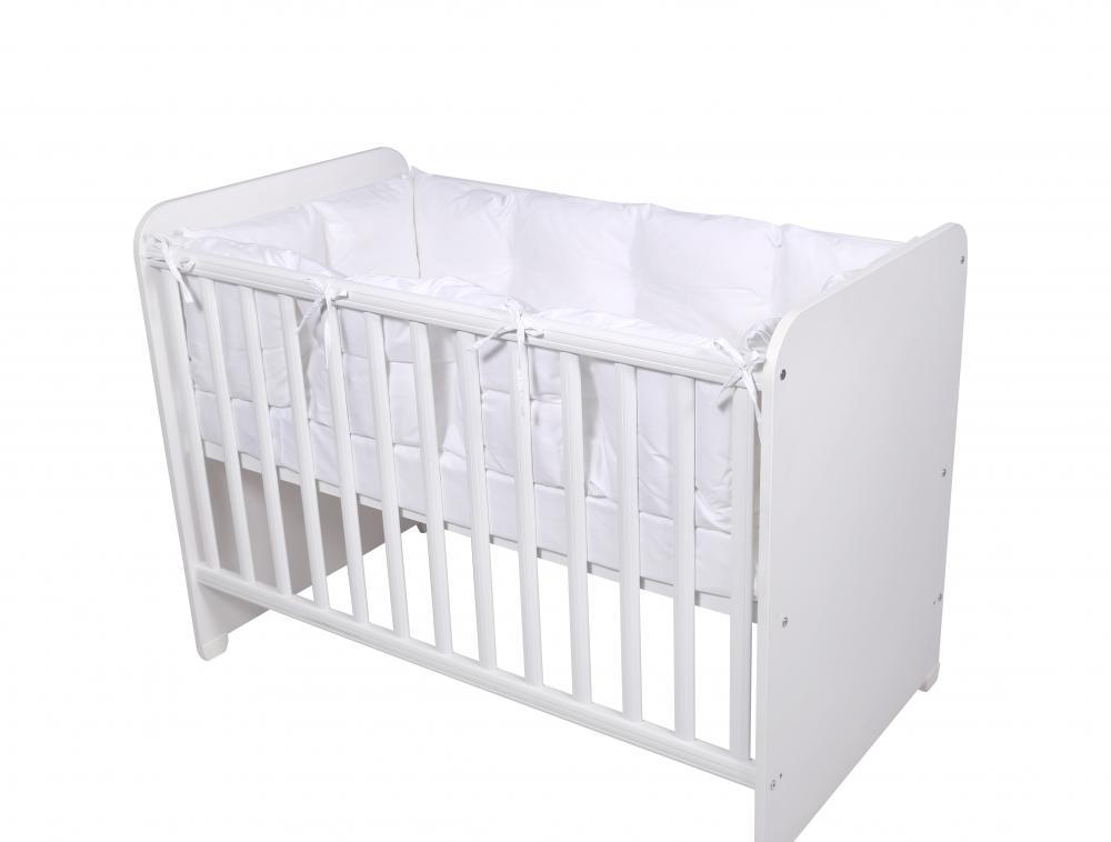 Set protectii laterale pentru pat 4 piese 60 x 120 cm White imagine