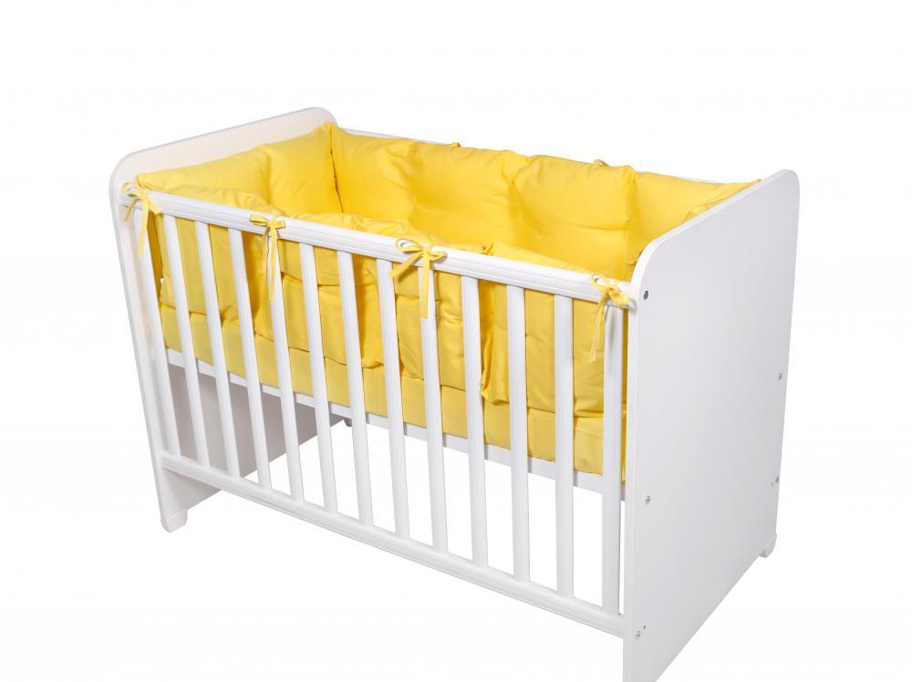 Set protectii laterale pentru pat 4 piese 60 x 120 cm Yellow
