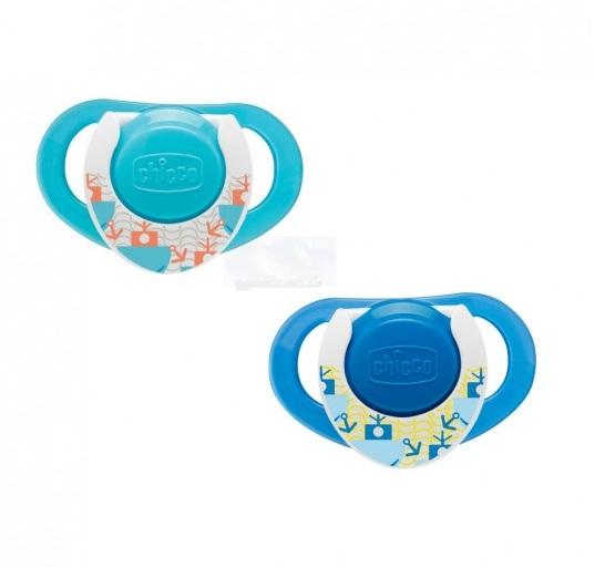 Suzeta silicon Physio forma ergonomica 12luni+ bleu