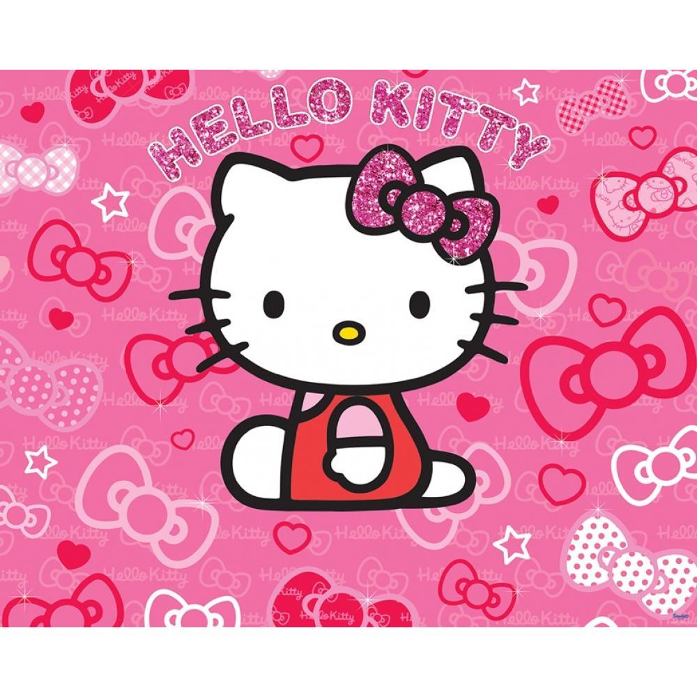 Tapet Pe Baza De Hartie Pentru Copii Walltastic Hello Kitty