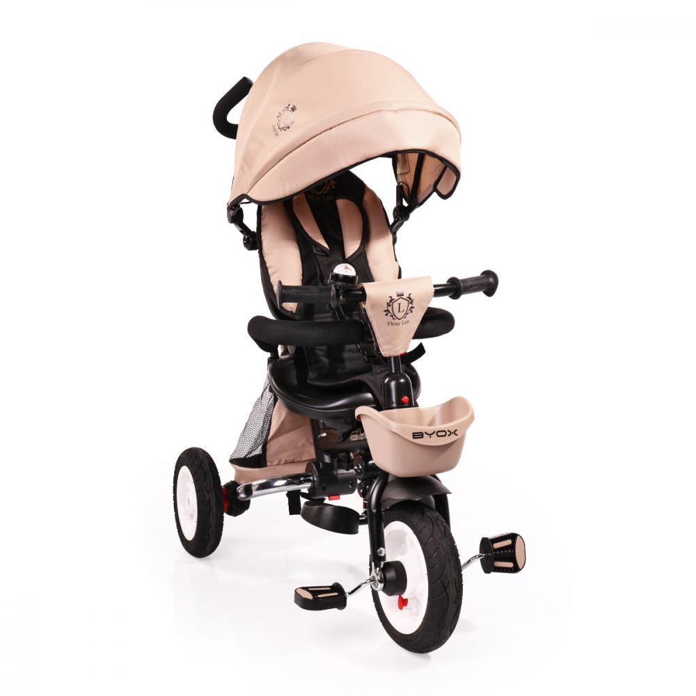 Tricicleta Cu Sezut Reversibil Flexy Lux Beige
