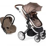 Carucior transformabil 3 in 1 Dotty Brown