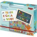 Cutie cu jocuri magnetice Haba Expeditia alfabetului 3ani+