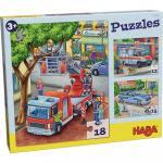 Puzzle Haba Politia pompierii si prietenii 3ani+