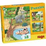 Puzzle cu animale 3 modele Haba 3ani+