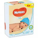 Set 4xServetele umede Huggies Pure 56buc