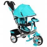 Tricicleta multifunctionala cu sunete si lumini Lux Trike blue