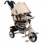 Tricicleta multifunctionala cu sunete si lumini Lux Trike ecru