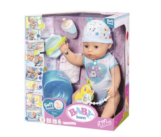 Bebelus baiat interactiv cu corp moale Baby Born