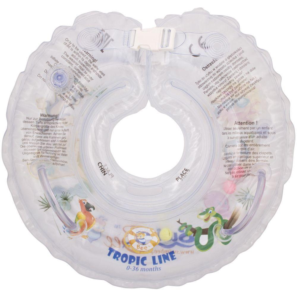 Colac de gat pentru bebelusi SwimBee Alb imagine