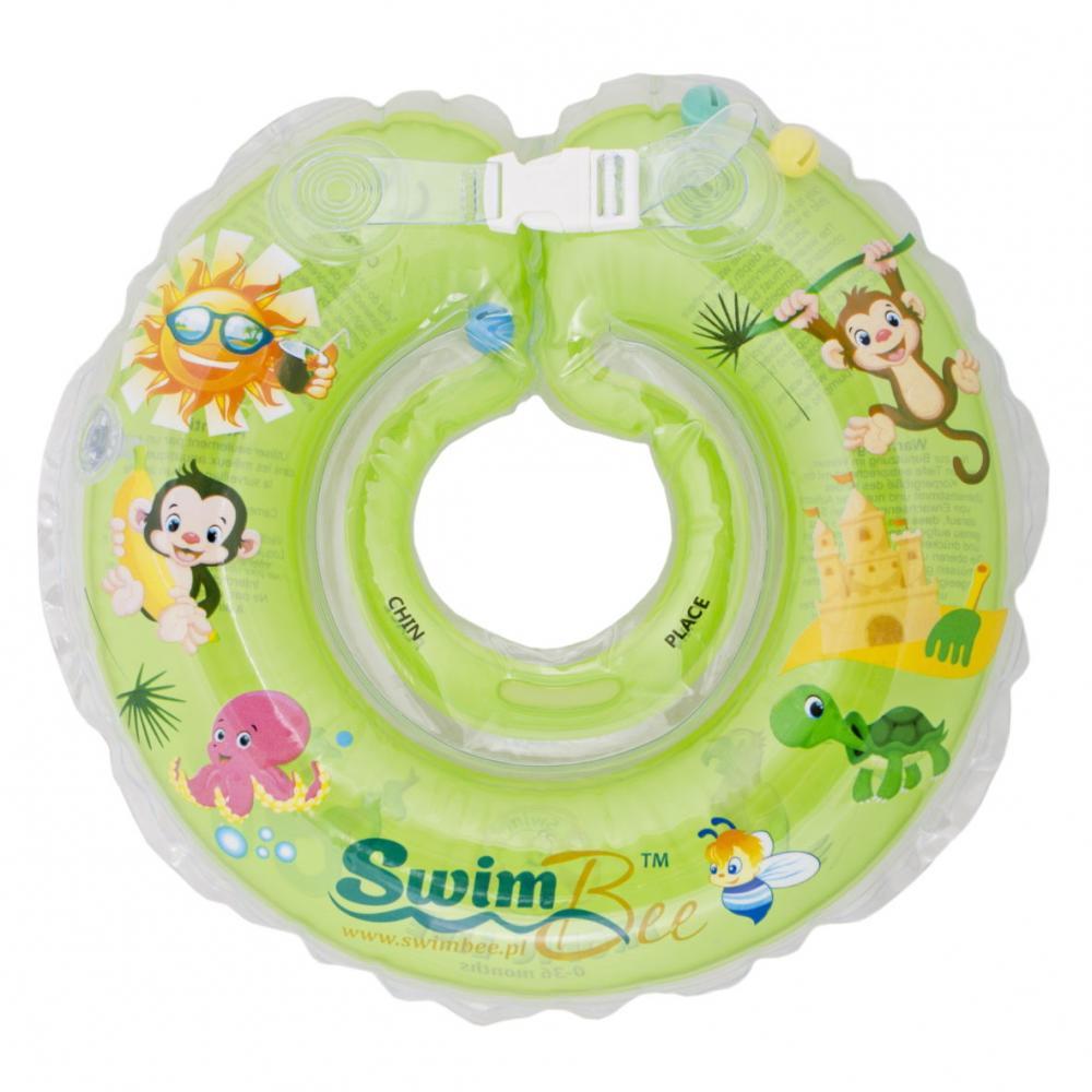 Colac de gat pentru bebelusi SwimBee Verde