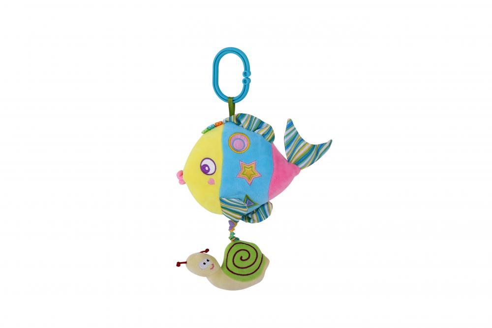 Jucarie muzicala din plus colorful Fish 32 cm din categoria Carucioare Copii de la LORELLI
