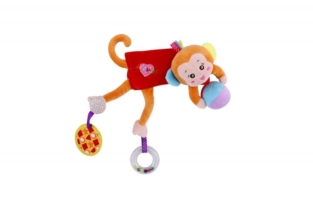 Jucarie zornaitoare din plus Hug me Monkey 33 cm