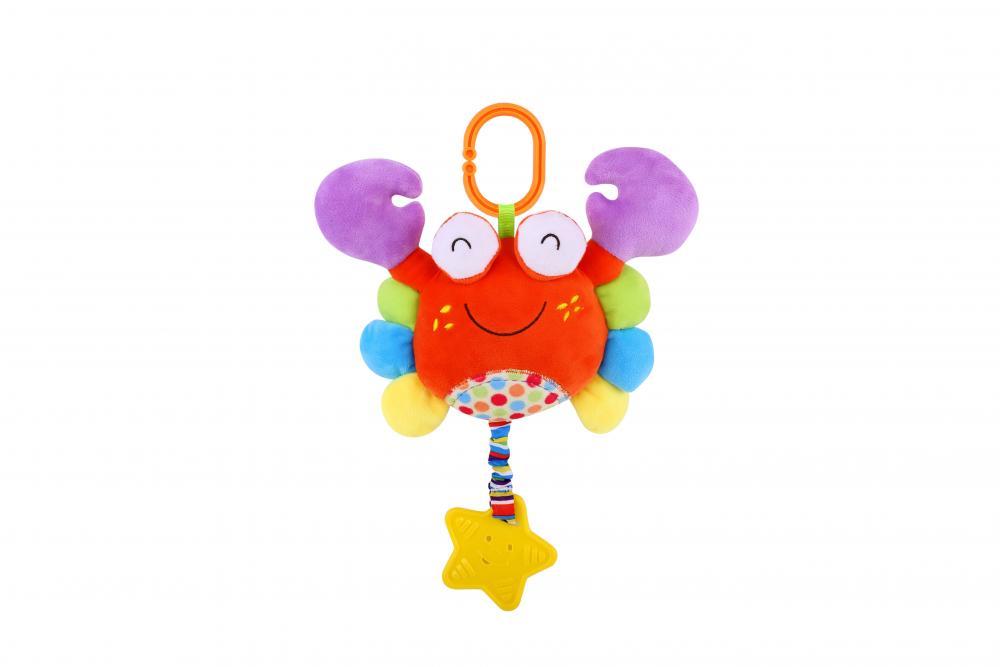 Jucarie zornaitoare din plus cu oglinda Crab 29,5 cm