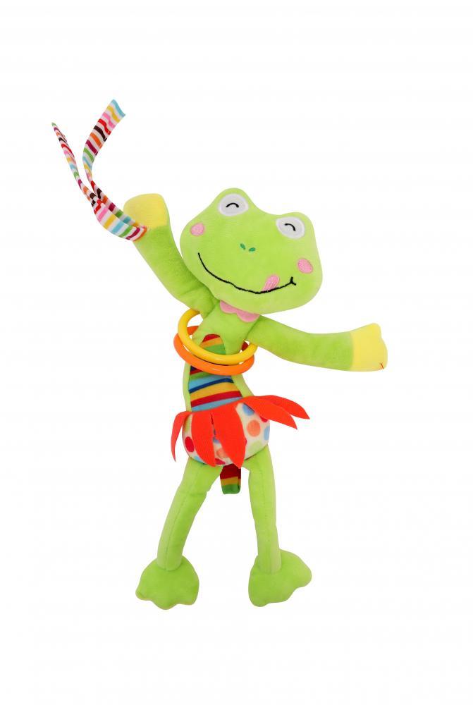 Jucarie zornaitoare din plus cu vibratii Frog 30 cm din categoria Carucioare Copii de la LORELLI